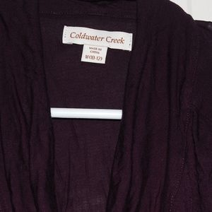 Purple sleeveless top medium